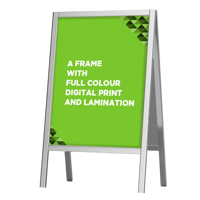 A Frames with full colour digital print and lamination
